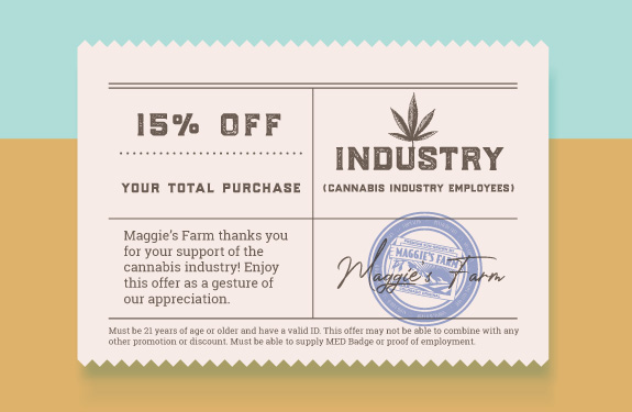 Industry - 15% Off at Maggie's Farm